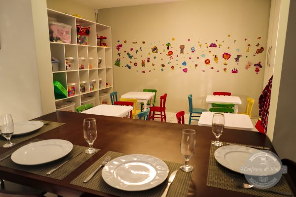 O espaço mais que perfeito para as crianças e os pais ficarem despreocupados.